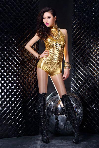 Sexy lencería discoteca ds disfraces mujer hip-hop Hollow Out ropa de baile trajes cuerpo lencería damas teddies sexy Body