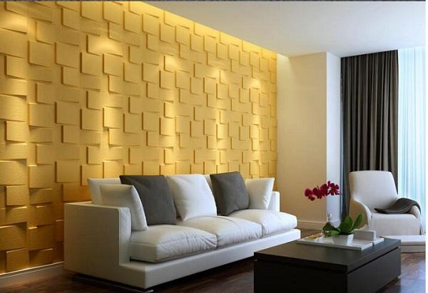 Waterproof Boards Interior Home Decoration Wall Panel 3D Pvc Light