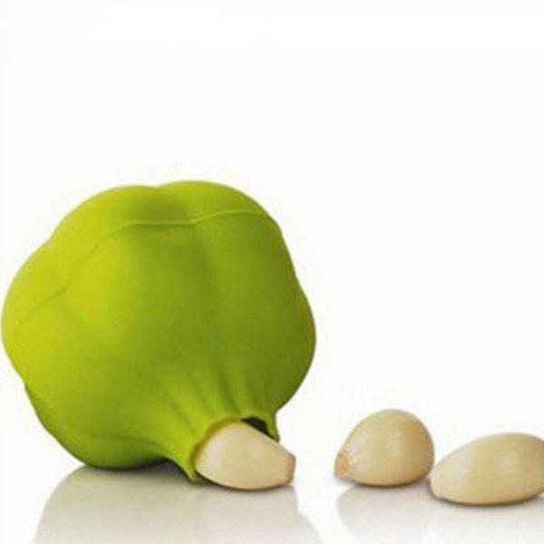 New Silicone Garlic Press With Hand Garlic Crusher Zester Kitchen Gadget Vegetable Peeler Fruit Vegetable Tools