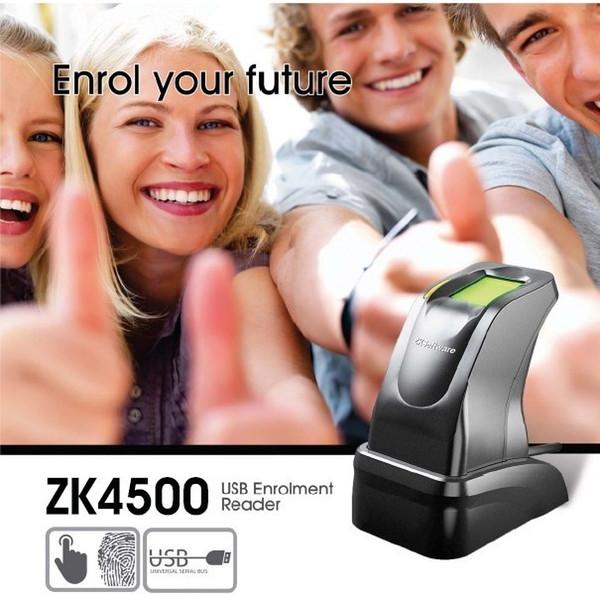 All'ingrosso- USB Fingerprint Reader Sensor Capture Reader scanner ZKT ZK4500 per PC Home e Office Free SDK Lettore di impronte digitali