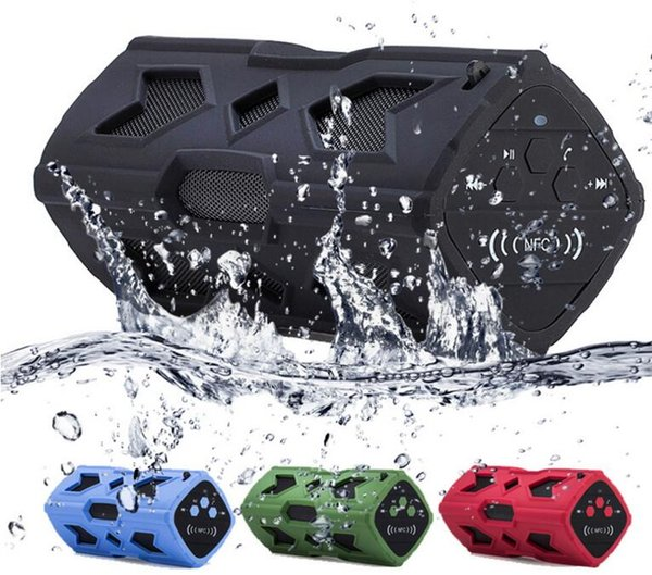Waterproof Bluetooth Speaker NFC 3600mAh Power Bank Shockproof Stereo Wireless Player Bicycle Cycling Audio Sound Subwoofer Box FEDEX fast