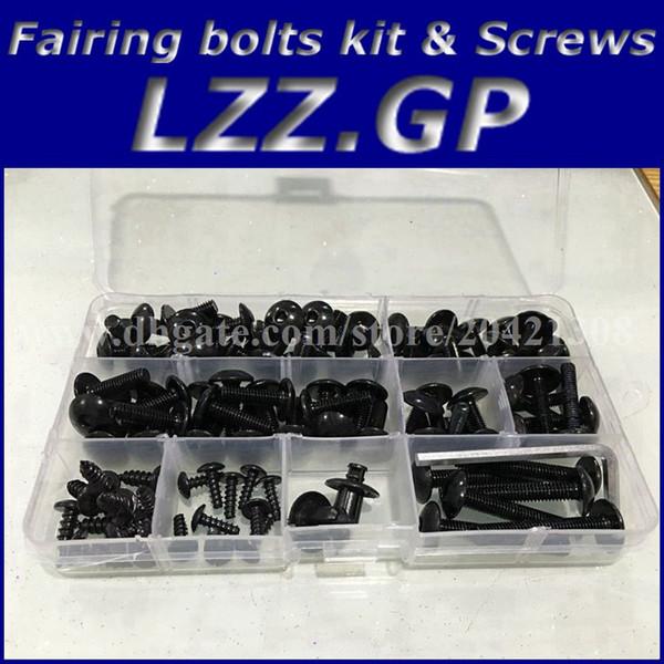 Verkleidungsschrauben Kit Schrauben für Kawasaki NINJA ZX9R 1998 1999 ZX 9R 98 99 ZX-9R Verkleidungsschrauben Schrauben schwarz silber
