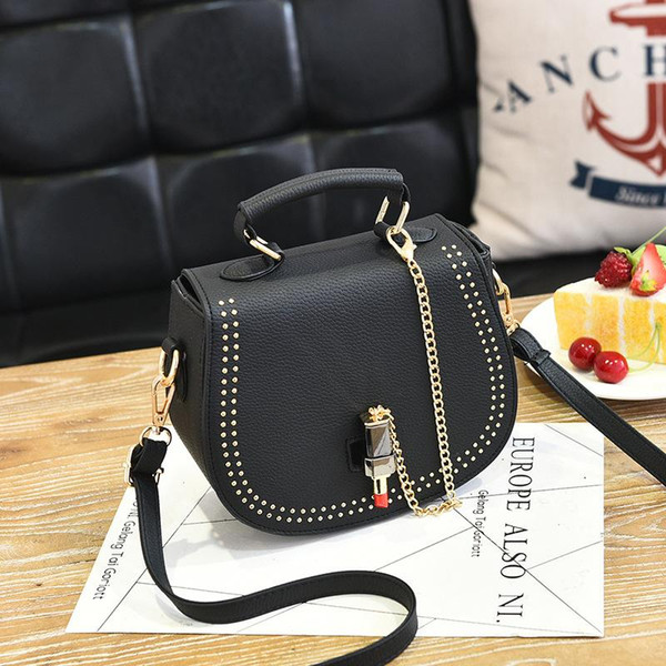 4078c4964f Female Bags 2017 New Ladies Shoulder Bag Messenger Sweet Ladies Fashion  Handbags Oblique Mouth Red Packets Single Shoulder Tote Bag