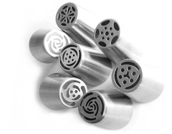 7PCS/set Stainless Steel Russian Tulip Icing Piping Nozzles Pastry Decoration Tips Cake Decoration Rose Kitchen Accessories NB