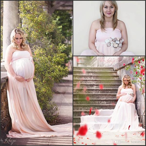 Pregnant Women Baby Shower Dresses 2016 Strapless A Line Plus Size ...