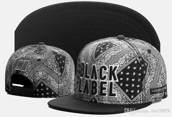 b1c575c62c 2016 Woman and Man Brand New Adjustable Bone Cayler & Sons BLACK LABEL  Cashew flowers Snapback