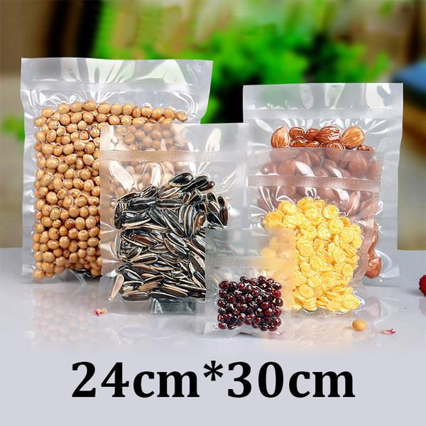 24x30cm HD clear plastic food grade packaging vacuum heat seal poultry shrink bags