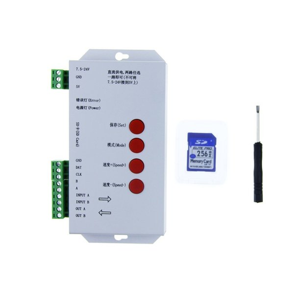2019 T1000S WS2812B WS2811 WS2813 RGB LED Controller Configurable SPI SD  Card WS2801 WS2803 LP6803 8806 1903 1809 1812 DC5V 12V 24V From Mokungit,
