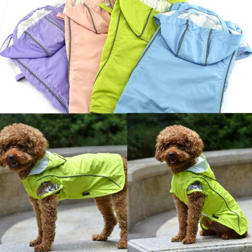 Pets Rain Coat For Small Dogs Pet Jacket Casual Waterproof Dog Clothes Rainwear Clothes With 4 Colors 160919