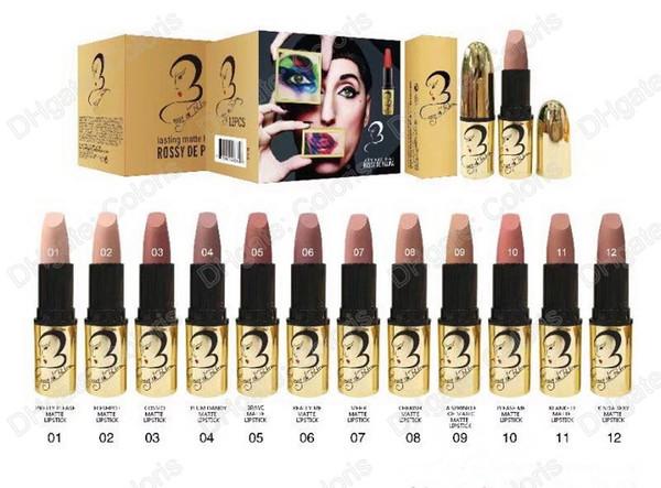 Makeup Rossy De Palma Matte Lipstick Lasting Matte Lipstick Nude Color Lipstick Have 12 Different Color 12pcs