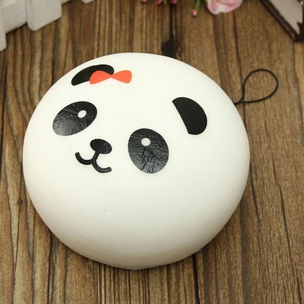 New Arrival Beautiful Design Cute 10cm Squishy Charms Buns Cell Phone Charm Kawaii Jumbo Panda Key Bag Straps Pendant