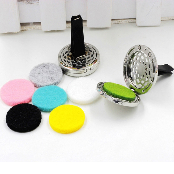 best selling 2017 10 Style Stainless Car Air Vent Freshener Essential Oil Diffuser Best Gift