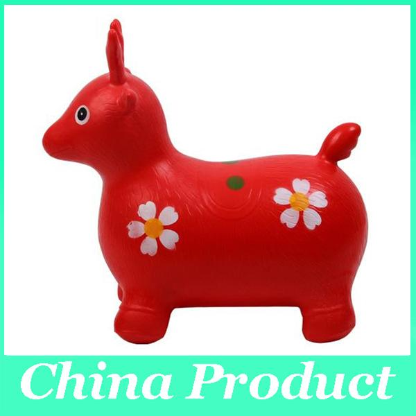 Wholesale manufacturers thickening 1300 g inflatable horse jumping cow deer hair mixed three children's toys 010273