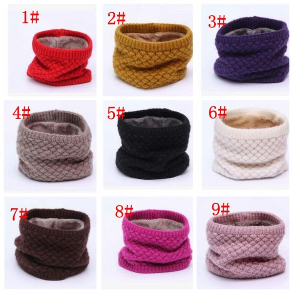 ff1a5360c1bd52 Women Winter Warm Infinity Cable Knitted Neck Cowl Collar Wraps Wool Scarf  Shawl Women Men children Ring Scarf KKA3314