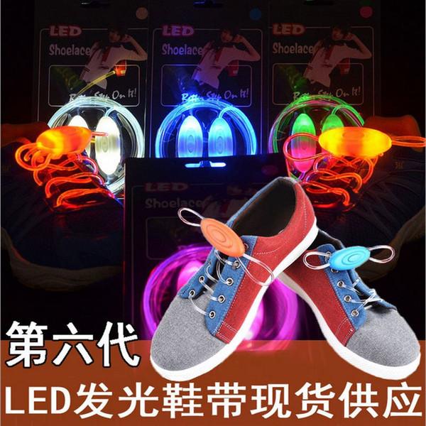 Multicolors leuchten LED Schnürsenkel neue Mode Flash Schuhe Schnürsenkel Disco Party glühende Nacht Schuhe Strings