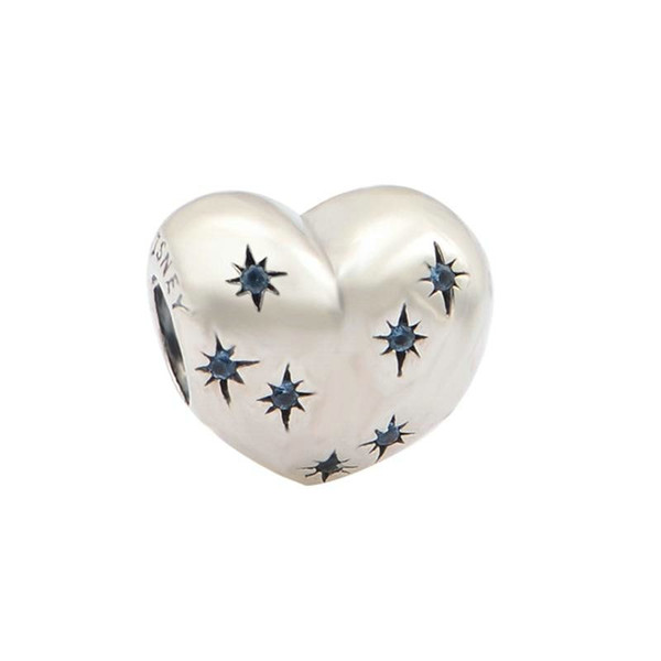 Sterling silver heart charm for bracelets fits DIY bracelet and necklace free shipping hot sale LW470