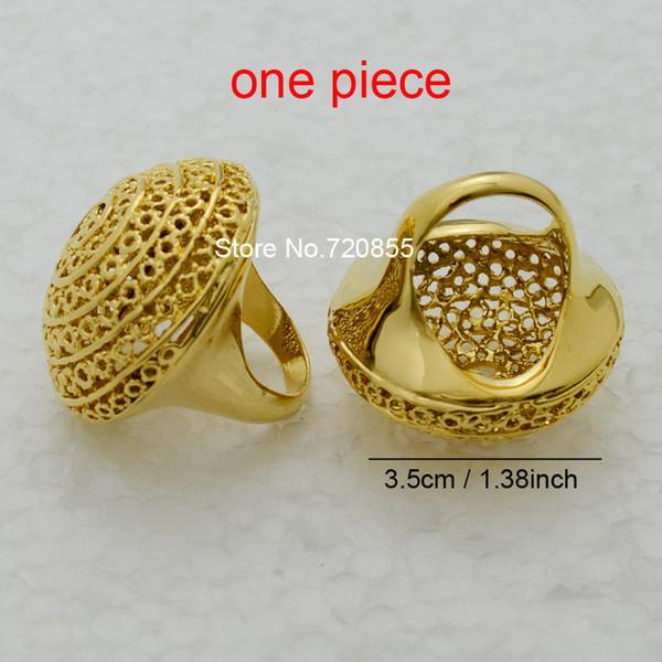 Big Ethiopian Ring Women 22k Gold plated Eretrian Rings Girl