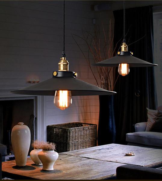 Großhandel Esszimmer Kronleuchter Beleuchtung Industrie E27 Lampe American  Style Eisen Basis 220v 110v Pendelleuchten Loft Coffee Bar Restaurant Küche  ...