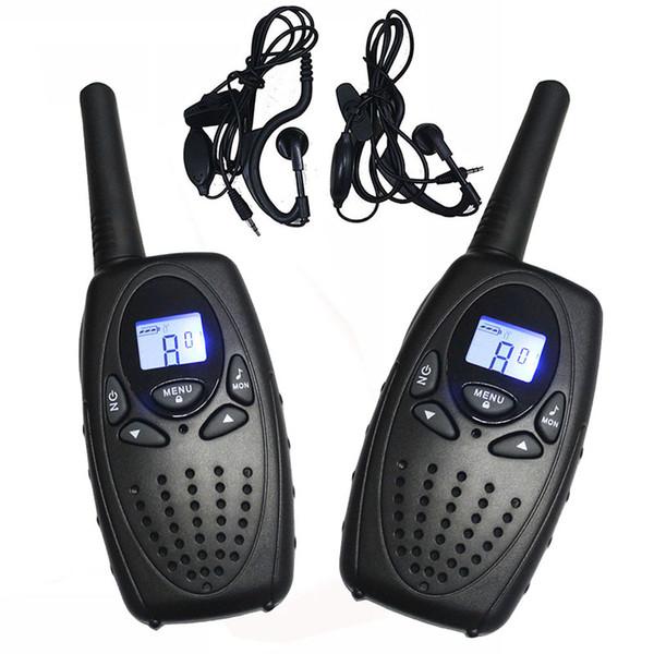 T628 Siyah Walkie Talkie PMR446 Euro 2 Yönlü Radyo için 8 Kanallar FRS / GMRS 22 Kanallar için Amerika PTT Taşınabilir Interkom Kulaklık