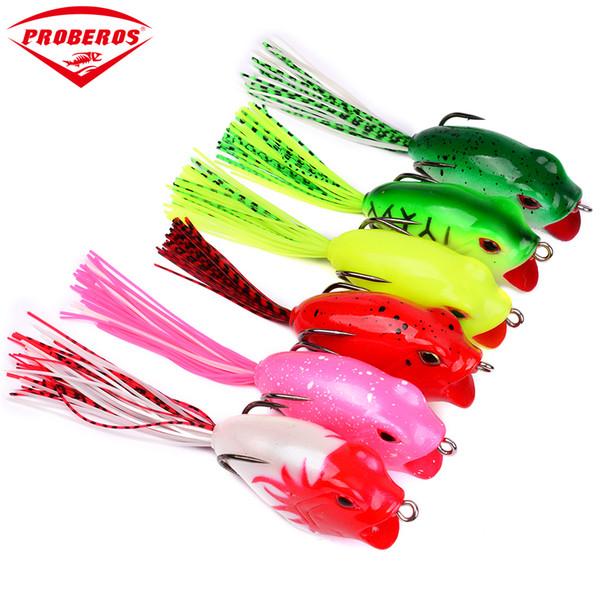 "6pcs/lot Soft Baits Frog Lure With Hooks Soft Fishing Bait 6 Colors Fishing Lures 16.16g-0.57oz/9.5cm-3.75"" Fishing Baits"