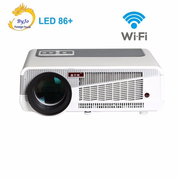 LED86+ wifi led projector Android 6.0 HD LED 3D Smart Projector 5500 lumens proyector Beamer 1080p HDMI Video Multi screen