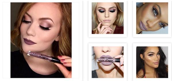 360pcs Nueva llegada NYX lip lingerie lip lips lip gloss lipstick vintage de larga duración 4ml maquillaje profesional