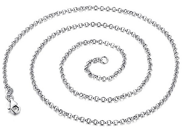 925 sterling silver chains for jewelry necklaces diy cross link chain woman man chokers white gold fashion new arrive summer for lovers 6pcs
