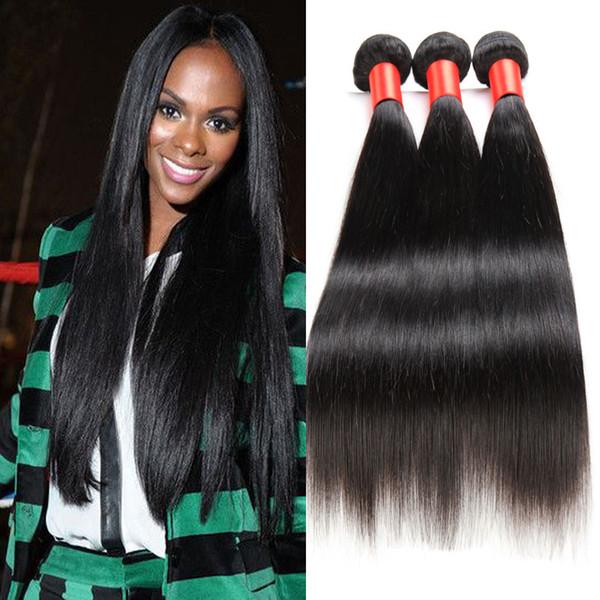 7A Peruvian Human hair Weave Unprocessed Virgin Hair Extension 4 bundles same mix length straight Hair Weft DHL Free Shipping