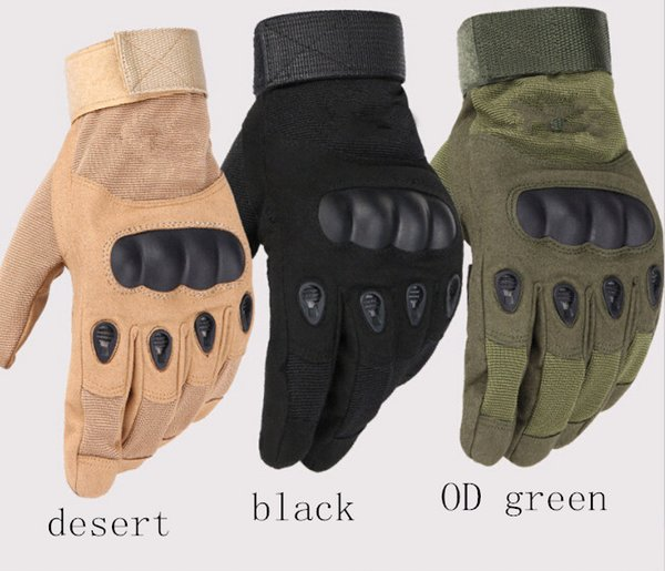 top popular Army tactical glove full finger outdoor glove anti-skidding sporting gloves 3 colors 9 size for option 2019