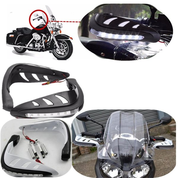 2019 7/8 22mm Motorcycle Handlebar Hand Guard Protector With LED Turn  Signals White Light Motocross Dirt Bike Handguards Protection From  Seasonyi1,