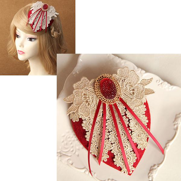 Lady Vintage Tassel Lace Fascinator Hat Clip Pins Cosplay Stage Show Hair Bangs Pin Fancy Dance Hair Accessory Hairpiece