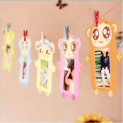 6 коробок/комплект 3 дюймов бумаги фоторамки милые мультфильмы висит стены фотографии DIY фоторамка свадьба фоторамка стены