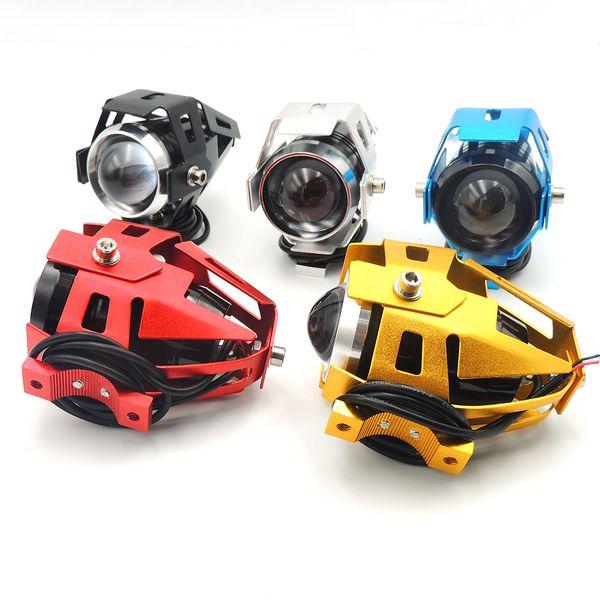 125W Motorcycle CREE U5 LED Driving Headlight Fog Lamp Spot Light Blue 1 piece