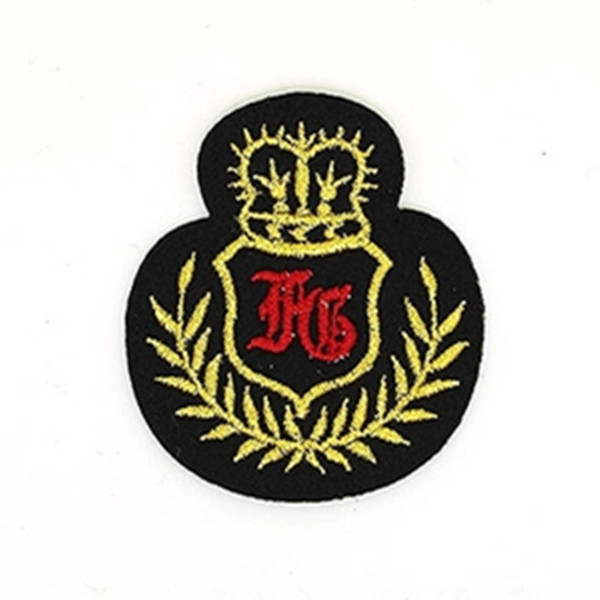 Crown military emblem badge Iron on Embroidered Gift Sew on shirt bag trousers coat Vest Individuality