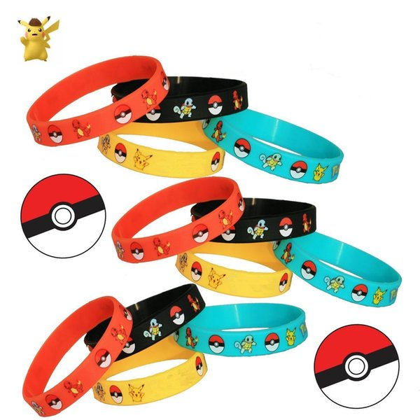 best selling Children's Toys Magic Baby Cartoon Anime Peripheral Elves Silicone Bracelets Kids Wristband Pikachu Bracelets Wristband Silicone Bracelet