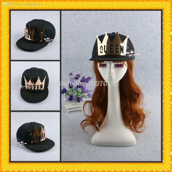 Wholesale-Hot Brand Fashion Snapback Hats For Men Women Queen Letter  Imperial crown Metal Baseball 20982ae12d9b