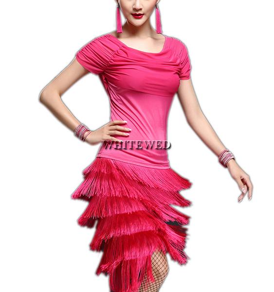 Compre Mulheres Tassel 1920 30 S Salsa Tango Fance Inspirado Colégio Dance Class Event Group Halloween Trajes Vestidos Adulto De Whitewed 2681