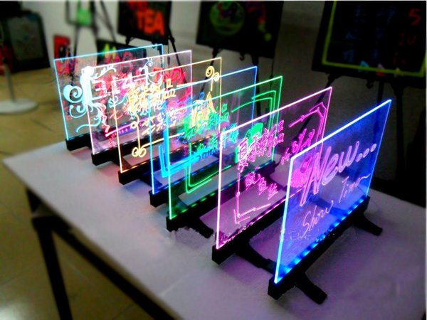 30x40CM LED Desktop&Hnaging Advertising Writing Board Promotion Neon Sign Signage Restaurant/Bar/Pizza Shop Menu Board