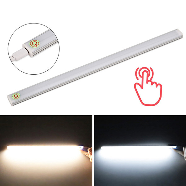 30cm 6W LED Touch Sensor Light 21 LED Light Closet Wardrobe Camping Emergency Cabinet USB Charging Ultra Thin Night Light White/Warm White