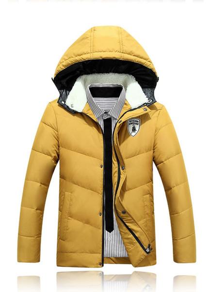 2016 free shipping Men's Winter Wind Proof Jackets Long Winter Jacket Loose Fit Stylish Men Overcoat Casual Men Outwear 80hfx