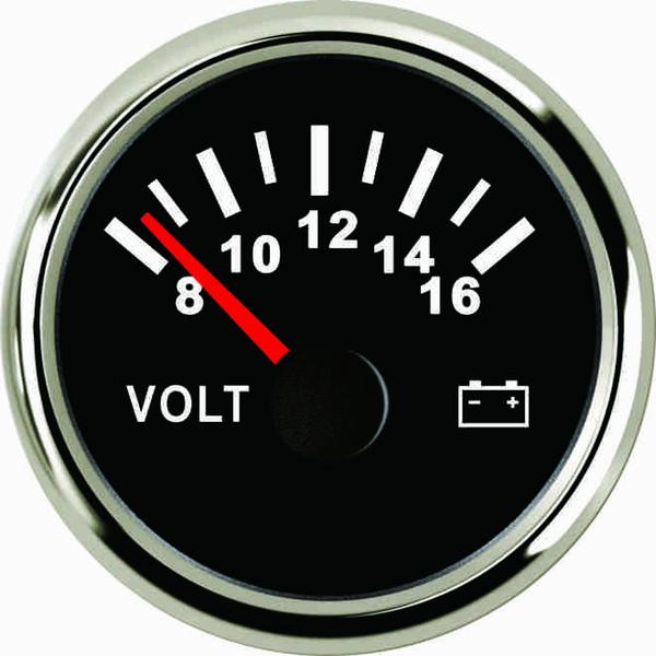 Garantierte Voltmeter Volt Gauge Meter 8-16V 52mm (2