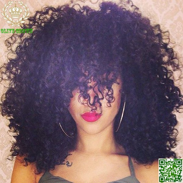 Malaysian Human Hair Wig High Density Kinky Curly Full Lace Wigs Afro Kinky Curl Glueless Lace Front Wig With Baby Hair