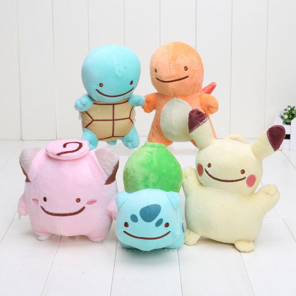 12-18cm Pikachu Center Plush Charmander Squirtle Bulbasaur Pikachu Plush Soft Stuffed Doll Toy for kids gift Free Shipping