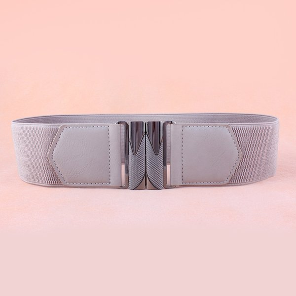 Wholesale- [YAMEZI] Fashion Women Belts High Quality Elastic Wide Stretch Buckle Waistband Waist Belt NY068