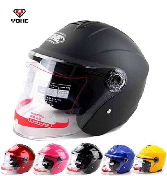 2016 New YOHE half face motorcycle helmet electric bicycle motorbike helmets YH870A Made of ABS with transparent lens 13 colors