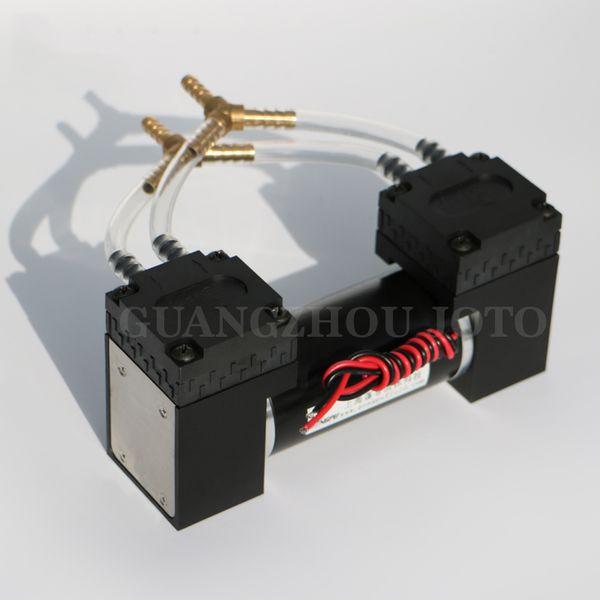 best selling 12V Small EPDM Diaphragm Vacuum Pump -85kPa High Vacuum Degree Negative Pressure Quiet Less Vibration Electrical Air Pump