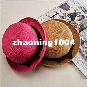 Designer Ladies Elegant Small Straw Beach Hats With A Bow Womens Spring Summer Fall Beach Brimmed Sun Visors Honey Fishing Bucket Caps Sale