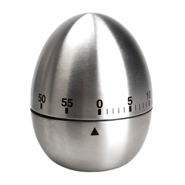 Apple Egg Mechanical Egg Kitchen Cooking Timer Alarm 60 Minutes Stainless Steel free shipping YH050