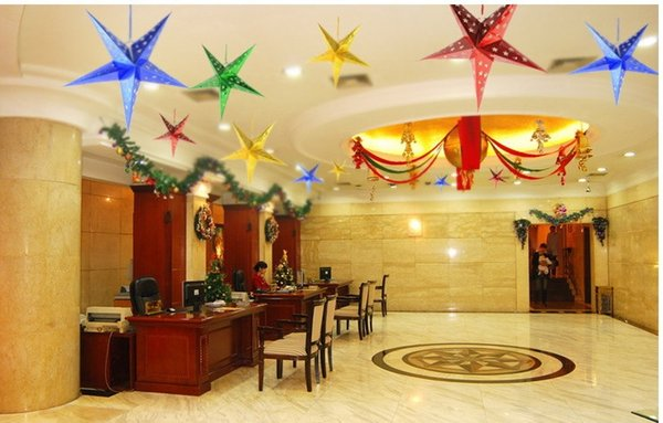 Five-pointed Stars Party Decorations Lampshade Lanterns Laser Paper Stars Wedding Supplies Birthday Shower Favors Christmas HB003