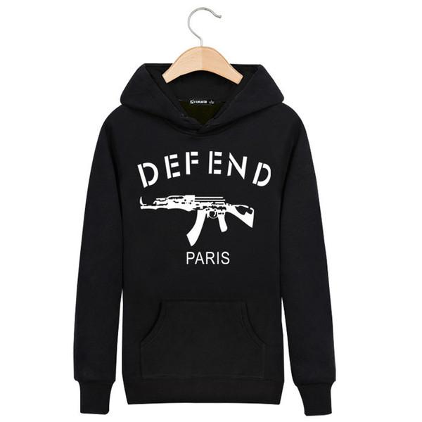 2019 Defend Paris Hoodie 2016 Japan Men AK 47 Hip Hop Harajuku Hooded Jacket Fashion Boys Clothing 100% Cotton Sports Skateboard Sweatshirt From